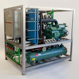 K-20F slurry ice machine with a pre-cooler